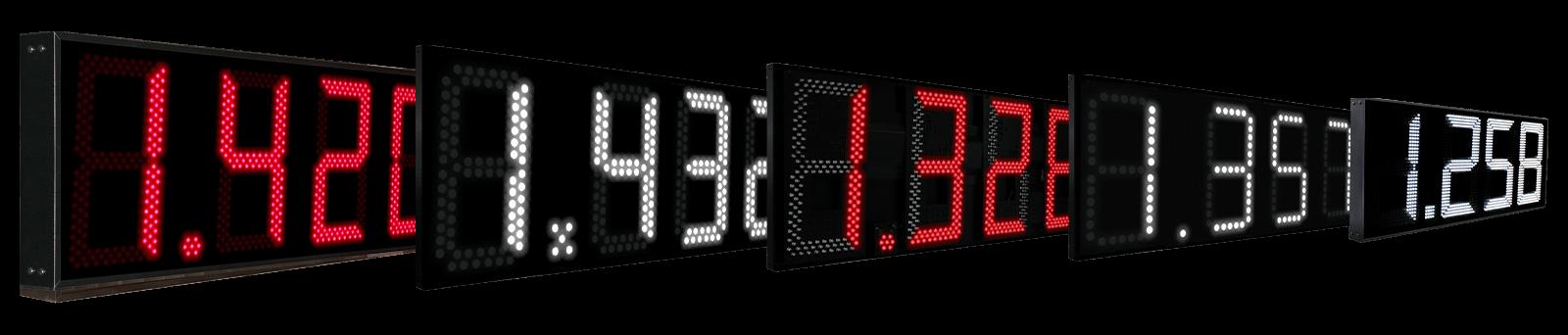 Precios de Combustible LED 1