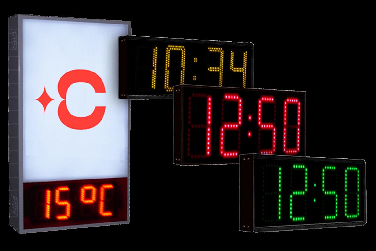 Reloj LED y Temperatura 1