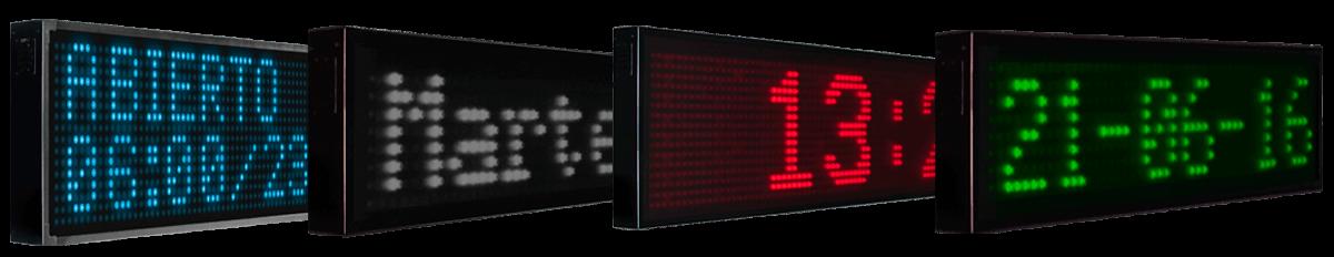 Pantallas de LED para textos 1