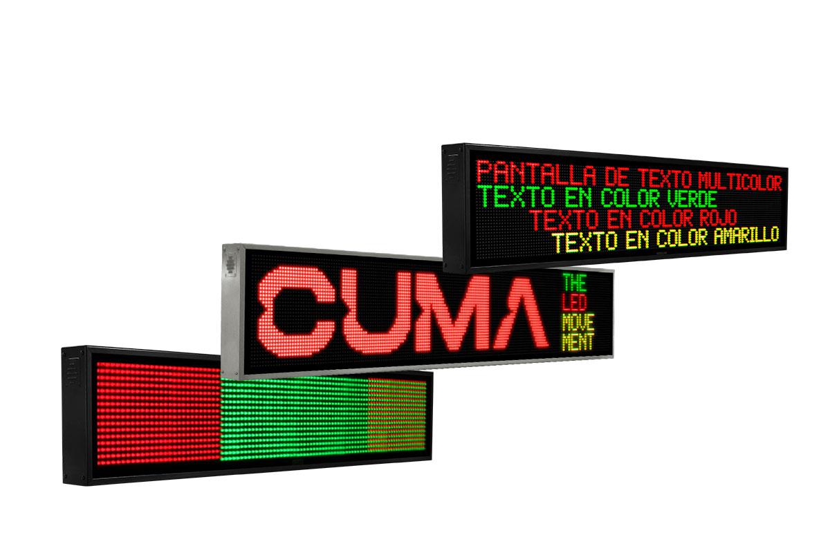 Pantallas de LED para textos