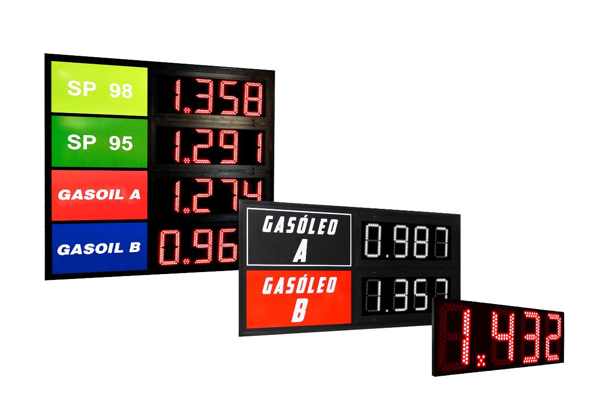 Precios de Combustible LED
