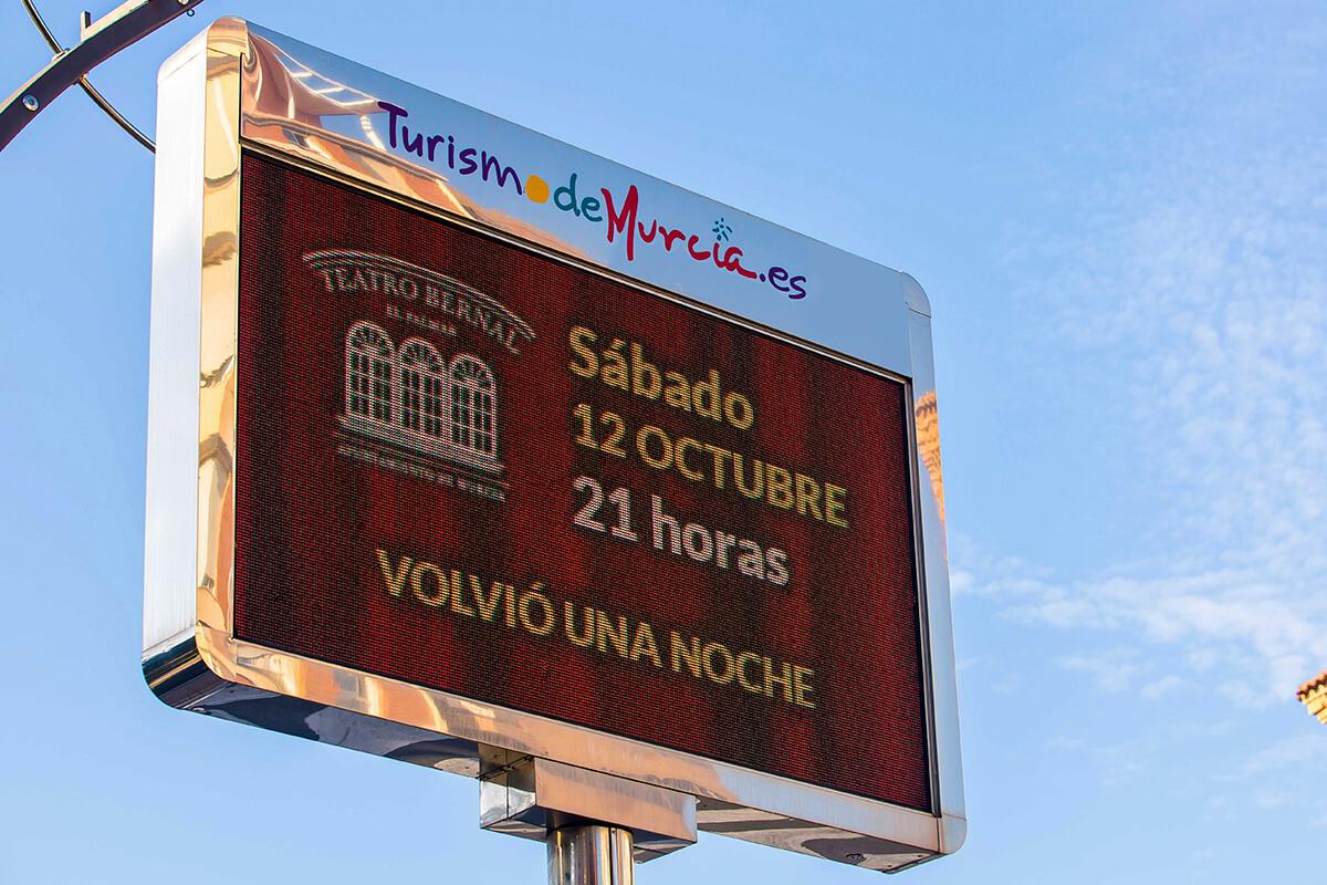 Pantalla LED Outdoor p10 Full Color de Información Ciudadana en Gran Vía de Murcia