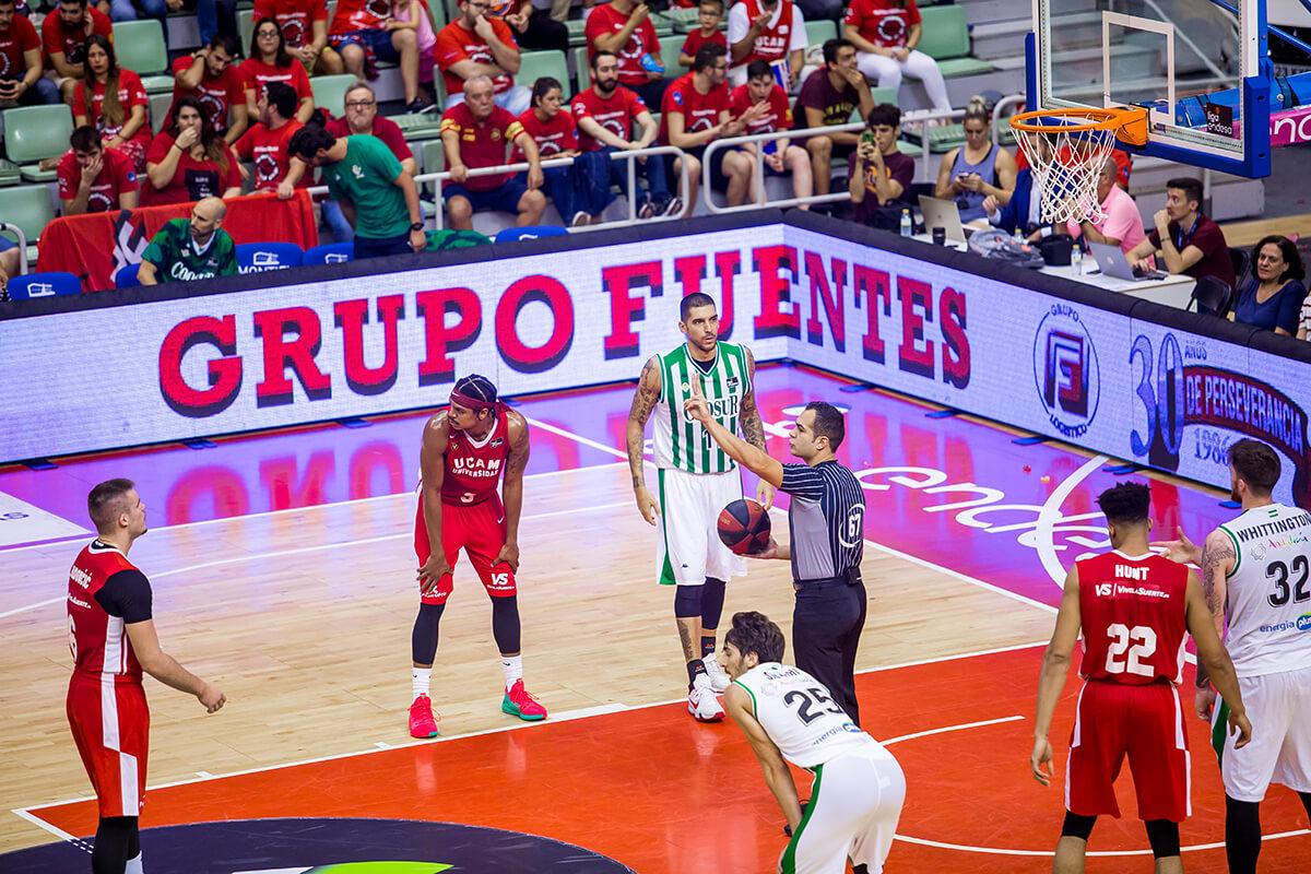 Vídeo marcador deportivo y valla perimetral en el Palacio de los Deportes de Murcia