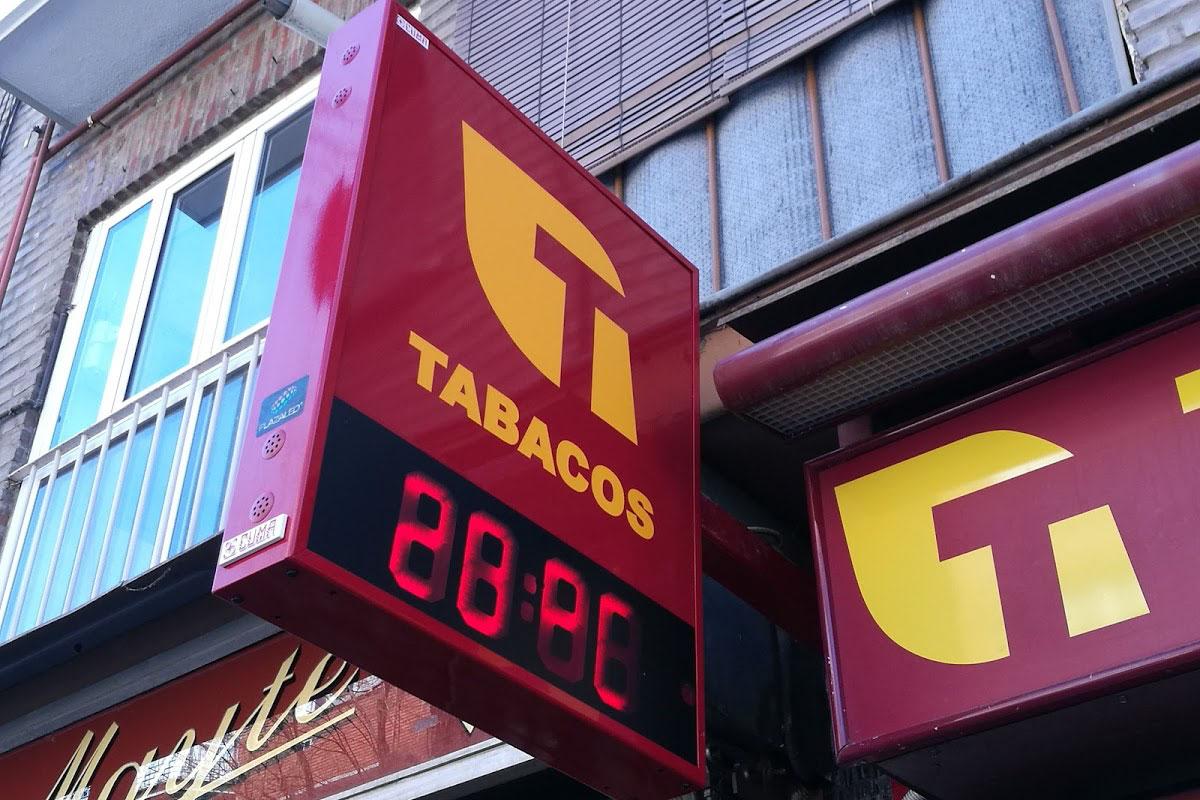 Banderola LED Trinidad en expendeduría nº293 de Madrid