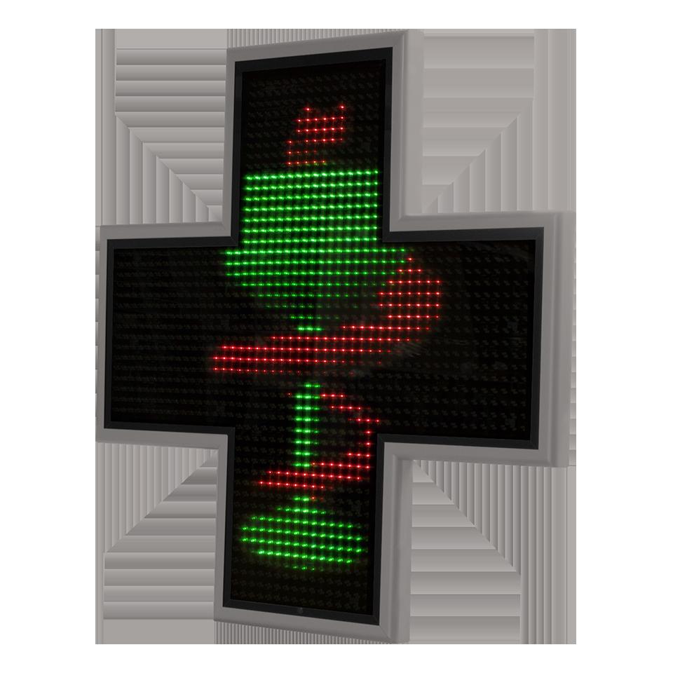 Cruz de Farmacia Bolonia Rojo verde RAL9006
