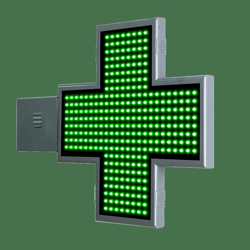 Cruz de Farmacia LED con animaciones 2D