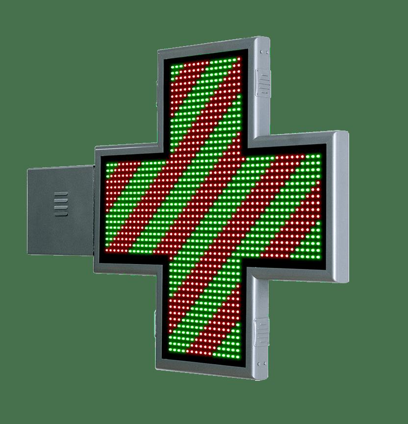 Cruz de Farmacia LED con animaciones 3D