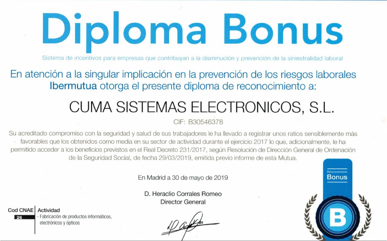 Ibermutua otorga un reconocimiento a CUMA por su implicación en la prevención de riesgos laborales 1