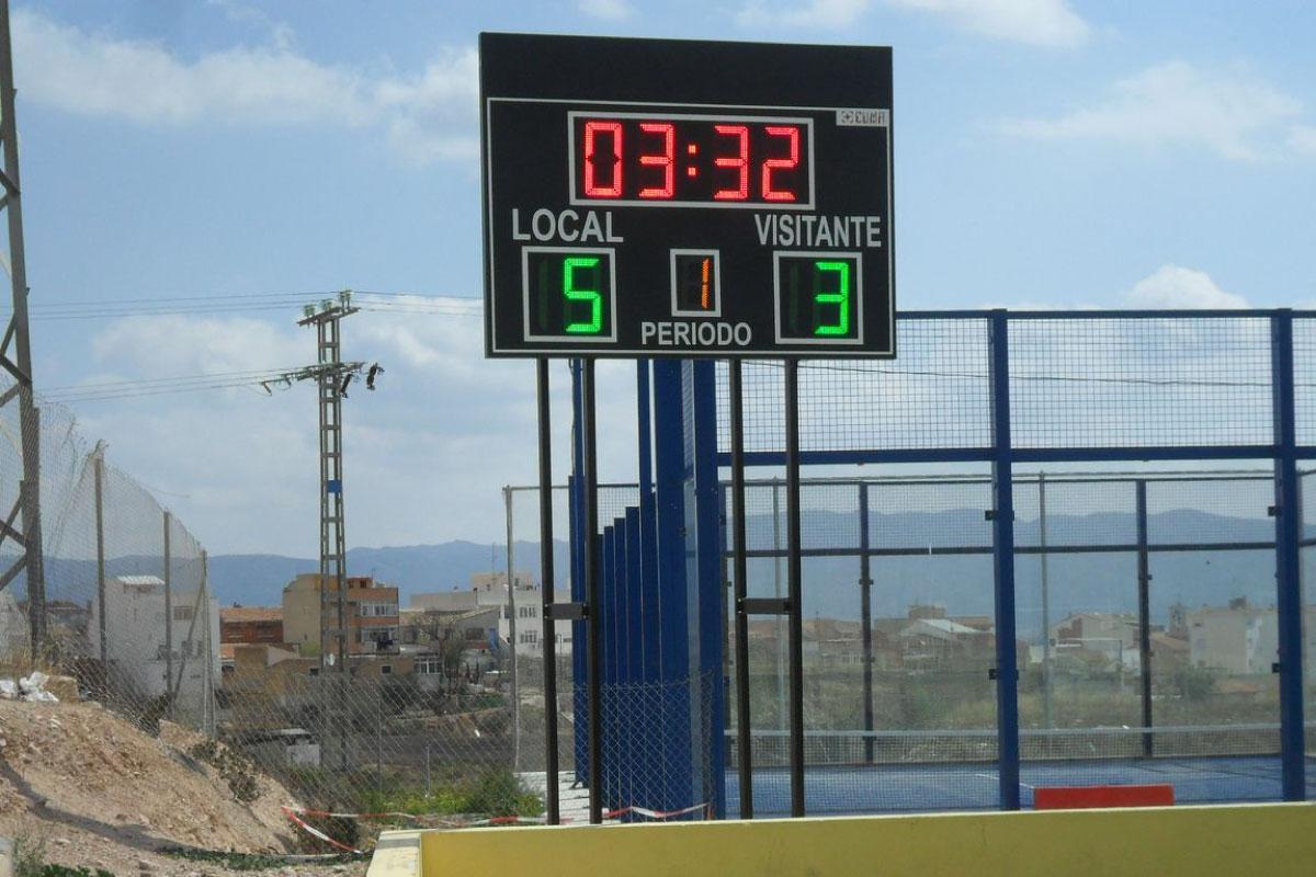 Marcador de fútbol dígitos LED