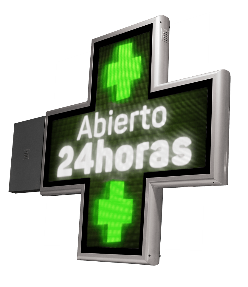 Cruces para Farmacia LED con animaciones Full Color