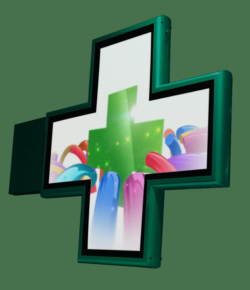 Cruz de Farmacia LED con animaciones Full Color
