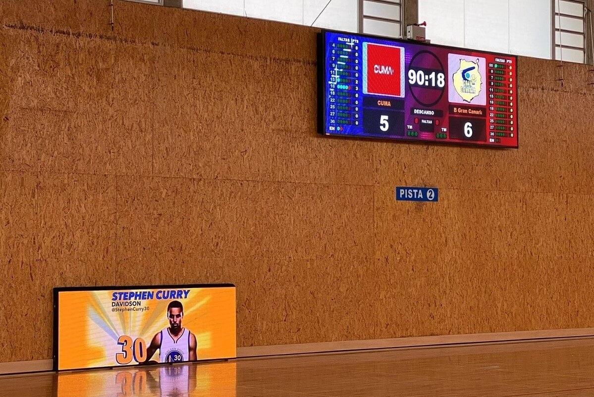 Videomarcador LED y Valla perimetral para el pabellón de baloncesto Can Guerxo, Ibiza