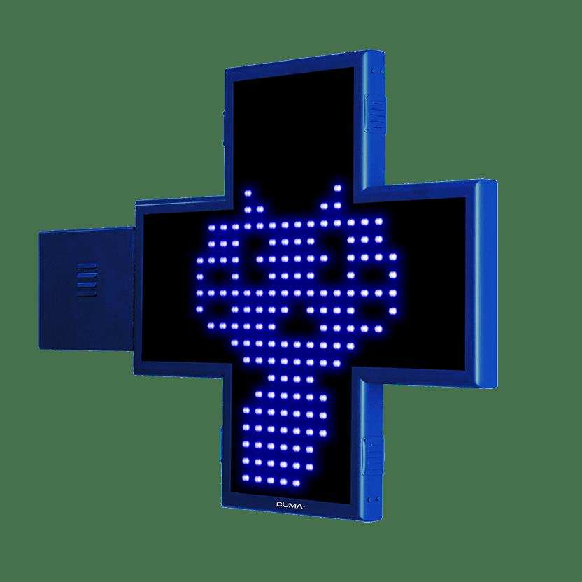Cruz de Veterinaria LED con animaciones 2D